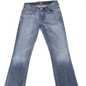 7 For All Mankind Bootcut Jeans Nakita Wash Sz 29
